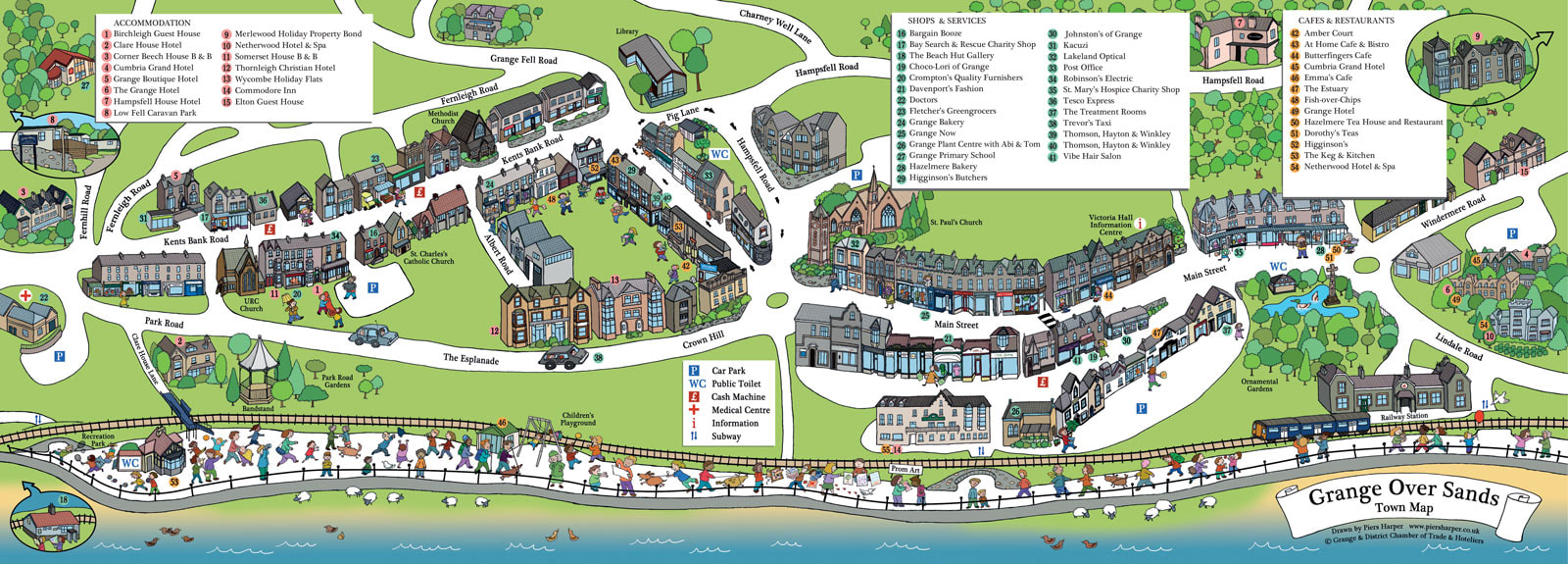 Grange-over-Sands Town Map